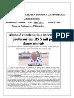 Prova de Portugues - 8 Ano ( 2 Bimestre )