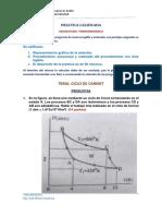 Solucionario de Practica de Calificada. Ciclo de Carnot 2020-II