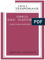 Edouard Bonnefous - Omul sau natura