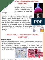 Introducción a la termodinámica y aspectos conceptuales