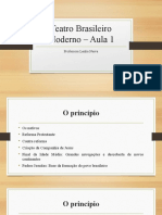 Teatro Brasileiro Moderno – Aula 1