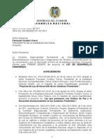 Informe Para Primer Debate Ley de Desarrollo Fronterizo (25-Mar-11)