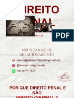 DIREITO PENAL DRA.LORENA  AULA 01 E 02