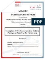 Conception Developpement Systeme Analyse Reporting Fichiers Logs