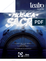 Revista Teatro Sucre Abril - Festival de Música Sacra