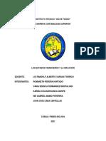 Estados Financieros y La Inflacion INCOS PANDO
