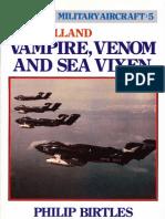 Postwar 5 de Havilland Vampire, Venom and Sea Vixen