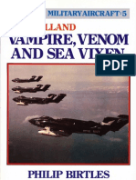 Postwar 5 de Havilland Vampire, Venom and Sea Vixen