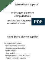 Montagem de micro computadores slides fabio
