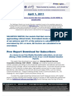 ValuEngine Weekly newsletter April 1, 2011