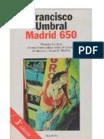 Umbral, Francisco - Madrid 650