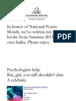Haiku for Summer Books