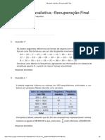 Recuperação Final de Estatística - Formulários Google