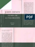 John Dewey - Teoria de La Valoracion