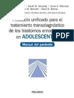 Protocolo unificado para el tratamiento transdiagnóstico de los trastornos emocionales en adolescentes. Manual del paciente - Jill Ehrenreich-May