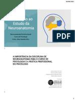 Aula 1 - Introdução - Revisão de Neuroanatomia 11082021