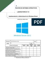 Lab 01 - Implementación y Administración de Windows Server