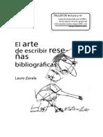 El arte de escribir reseñas bibliográficas