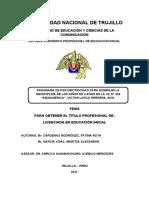 """""""PROGRAMA DE PSICOMOTRICIDAD PARA DISMINUIR LA INDISCIPLINA DE LOS NIÑOS DE 3 AÑOS DE LA I.E. N° 224 """"INDOAMÉRICA"""", VÍCTOR LARCO HERRERA, 2016"""" (1) (1)"""