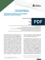 tratamento odontológico em pacientes com câncer durante a pandemia de covid-19