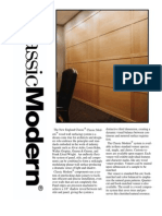Modern Wood Wall Paneling Systems Specifications | Classic Modern | New England Classic