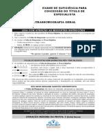 Ultrassonografia-Geral Prova Maio 2018