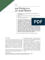 pricing in monopolistic audit market