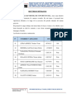 17.00) RECURSOS UTILIZADOS ( RECURSOS HUMANOS, HERRAMIENTAS Y MATERIALES)