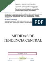 3RA SEMANA MEDIDAS DE TENDENCIA CENTRAL 1