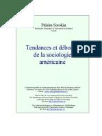 Pitirim A. Sorokin - Tendances et déboires de la sociologie américaine