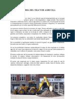 HISTORIA DEL TRACTOR AGRICOLA