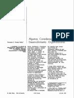 (Lido) Considerações Sobre o Desenvolvimento Organizacional I