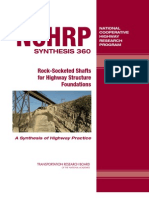 Rock Socketed Shafts for Highway Structure Foundations