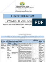 Plano de Curso 8º Ano - Ensino Religioso - Extra
