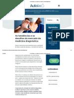 As tendências e os desafios do mercado de medicina diagnóstica