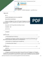 RELATÓRIO DE ESTÁGIO - Relatório de pesquisa - Camilla Eduarda Santos de Paula