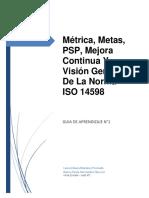 Guía 1 - Métrica, PSP, mejora continua y Norma ISO 14598