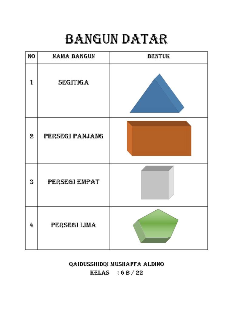 BANGUN DATAR   PDF