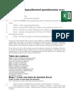 Méthode de dépouillement questionnaire avec Excel