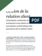 Gestion de la relation client — Wikipédia