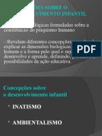 CONCEPÇÕES SOBRE O DESENVOLVIMENTO INFANTIL
