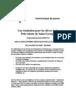 Communique Fondation