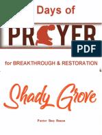7 Days of Breakthrough & Restoration- Shady Grove