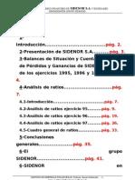 ANÁLISIS DE RATIOS DE SIDENOR