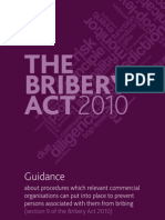 Guidance on the British Bribery Act of 2010