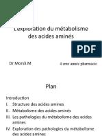Pharm09 Bioch-exploration Acides Amines