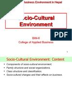 Socio-Cultural Environment