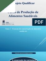 3. Tecnicas de conservação de alimentos saudáveis