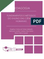 Fundamentos e Métodos do Ensino das Ciências Humanas
