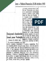 Emigranti Clandestini Fermati Presso Ventimiglia (Corriere della Sera 1958)